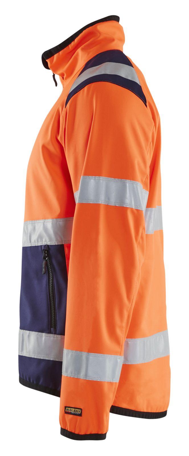 Blaklader Softshell jacks 48772516 High Vis oranje-marineblauw(5389)