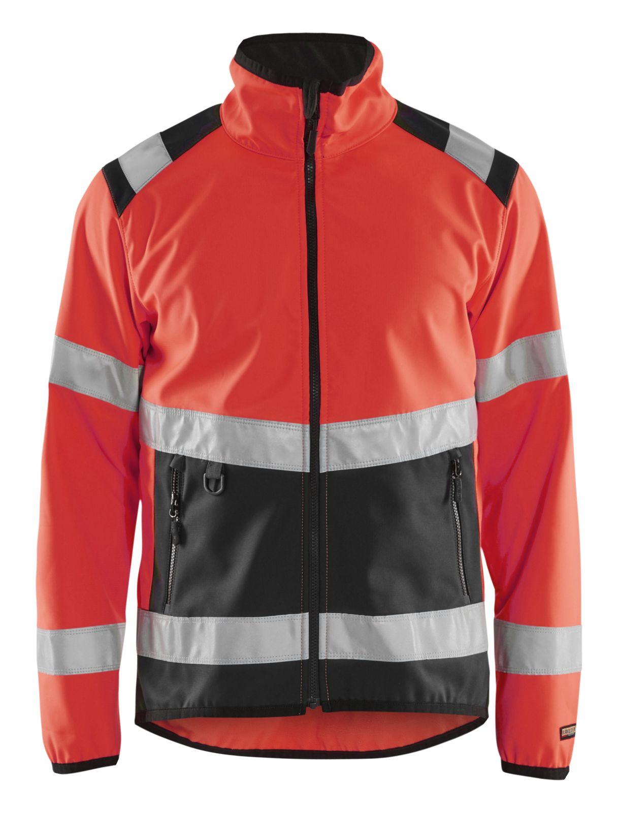 Blaklader Softshell jacks 48772516 High Vis fluor rood-zwart(5599)
