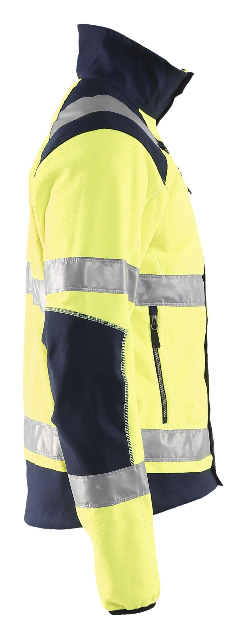 Blaklader Fleece jassen 48882524 High Vis geel-marineblauw(3389)