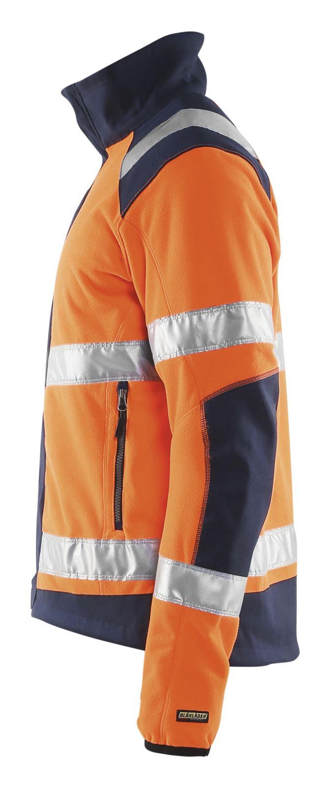 Blaklader Fleece jassen 48882524 High Vis oranje-marineblauw(5389)
