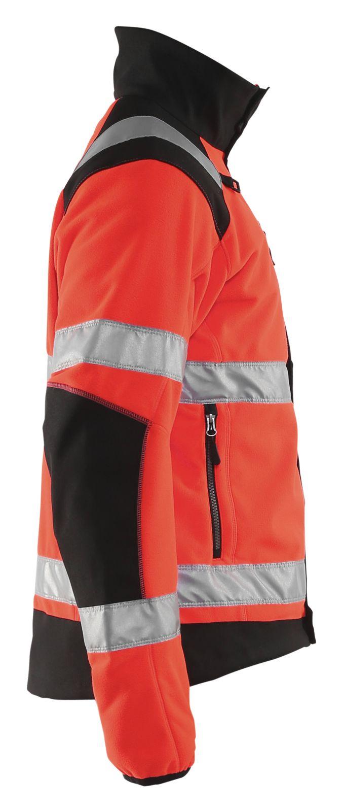 Blaklader Fleece jassen 48882524 High Vis fluor rood-zwart(5599)