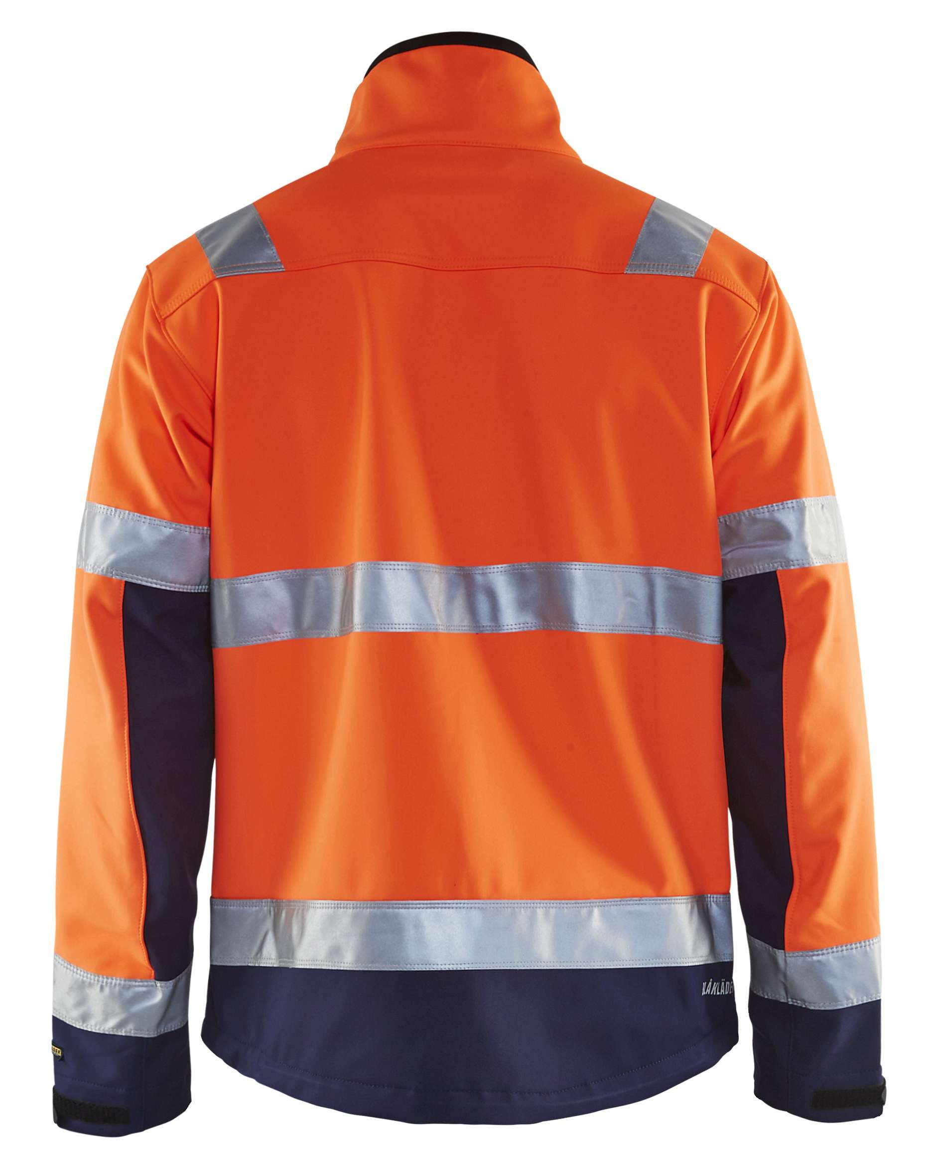 Blaklader Softshell jacks 49002517 High Vis oranje-marineblauw(5389)