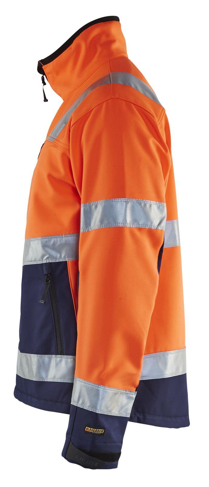 Blaklader Softshell jacks 49002517 High Vis oranje-marineblauw(5389)