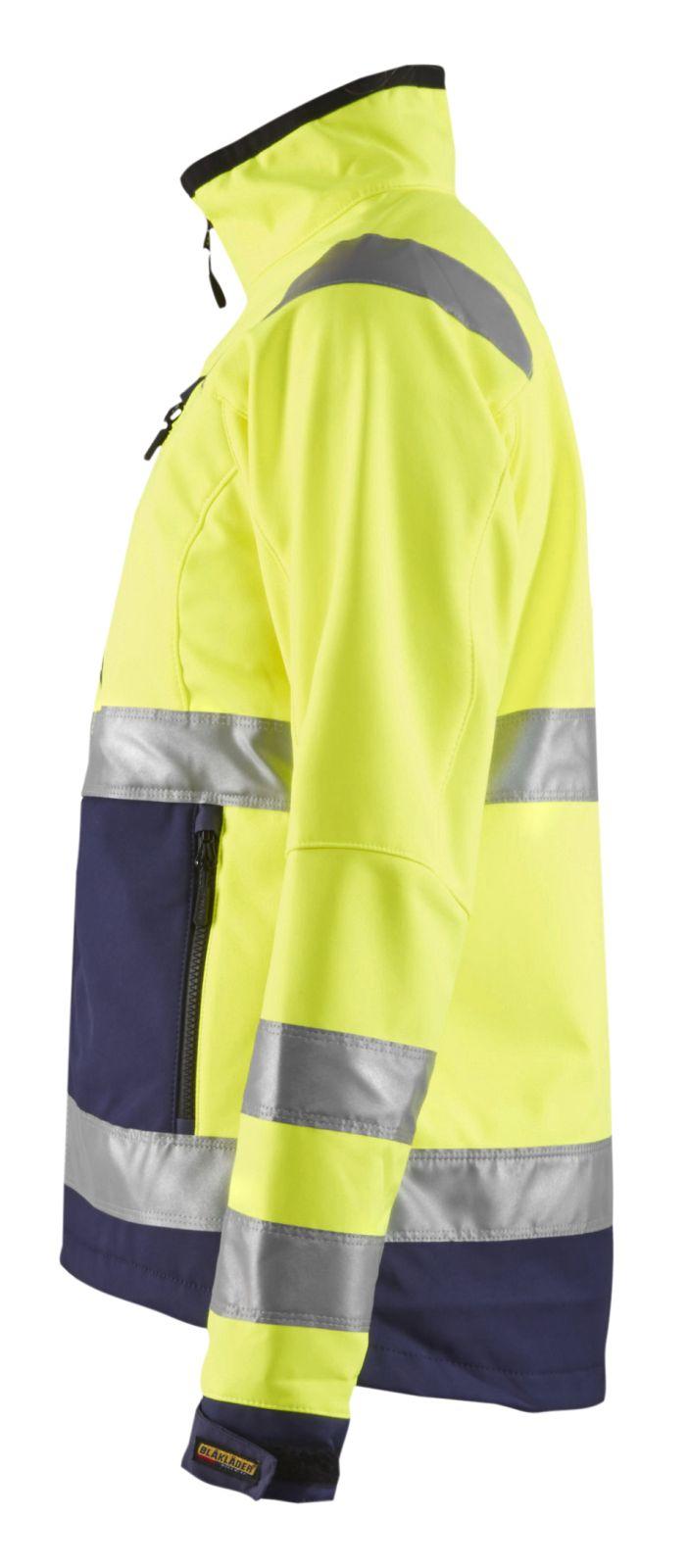 Blaklader Dames softshell jacks 49022517 High Vis geel-marineblauw(3389)