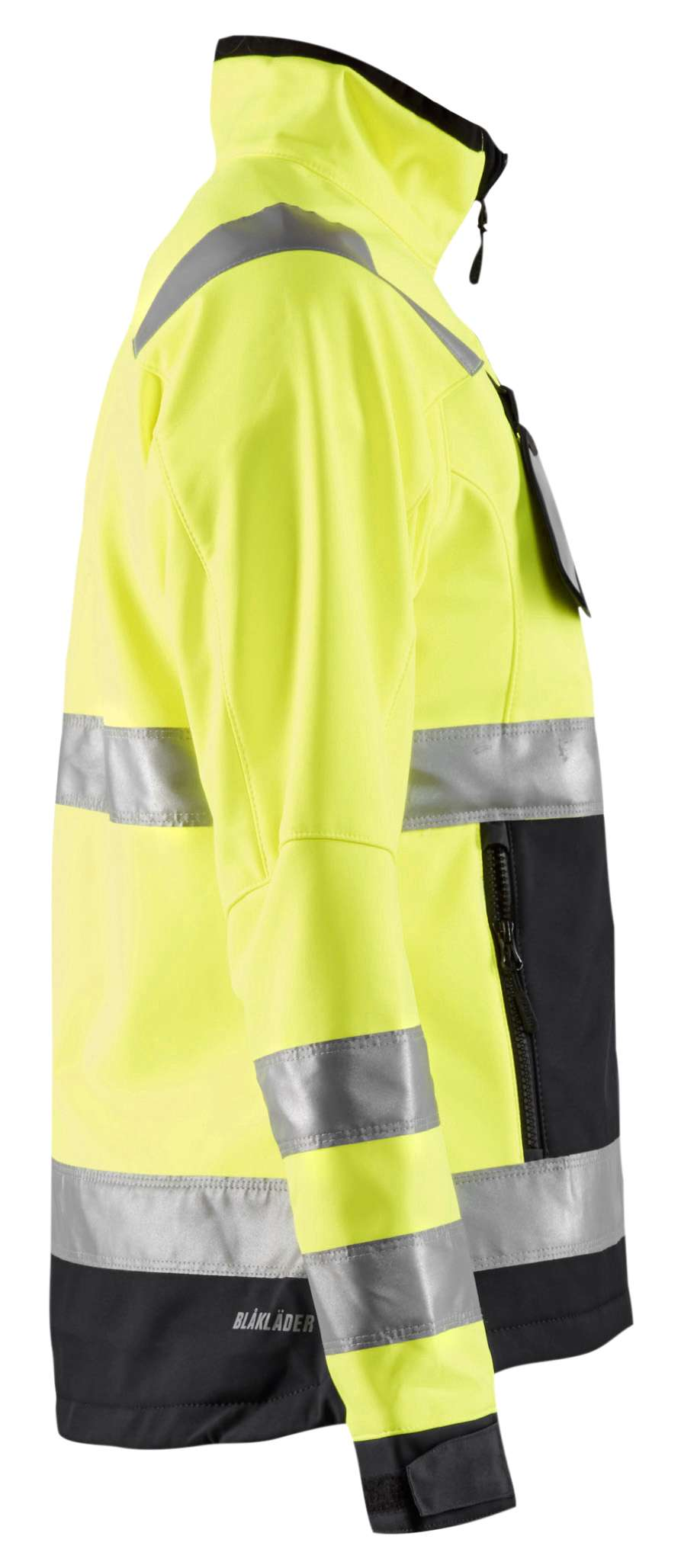 Blaklader Dames softshell jacks 49022517 High Vis geel-zwart(3399)