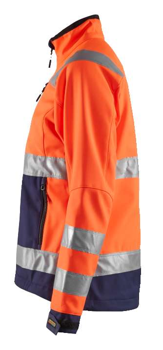 Blaklader Dames softshell jacks 49022517 High Vis oranje-marineblauw(5389)