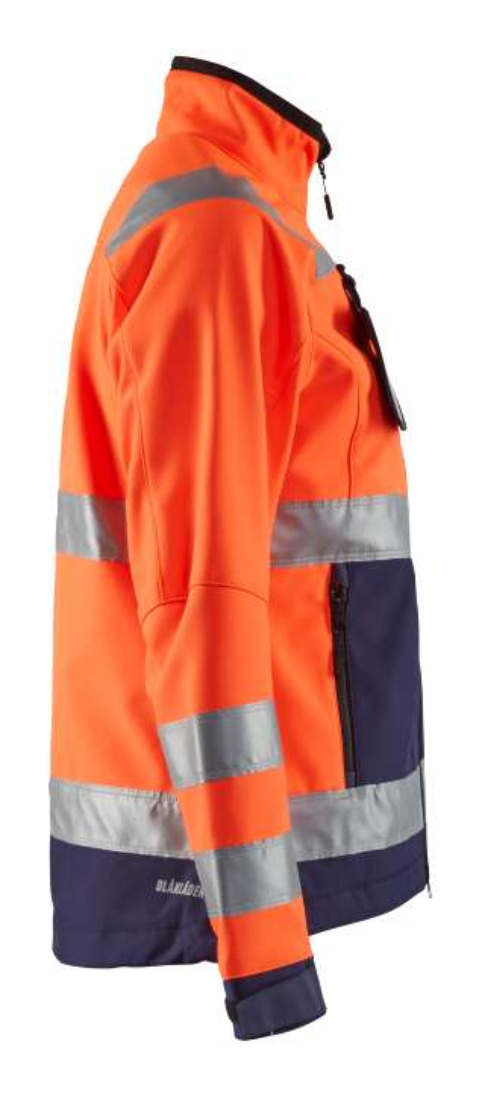 Blaklader Dames softshell jacks 49022517 High Vis oranje-marineblauw(5389)