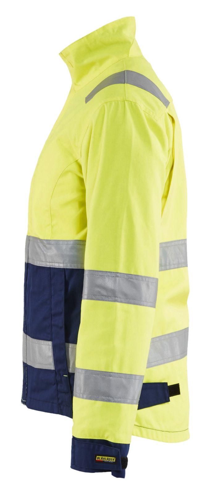 Blaklader Dames werkjacks 49031811 High Vis geel-marineblauw(3389)