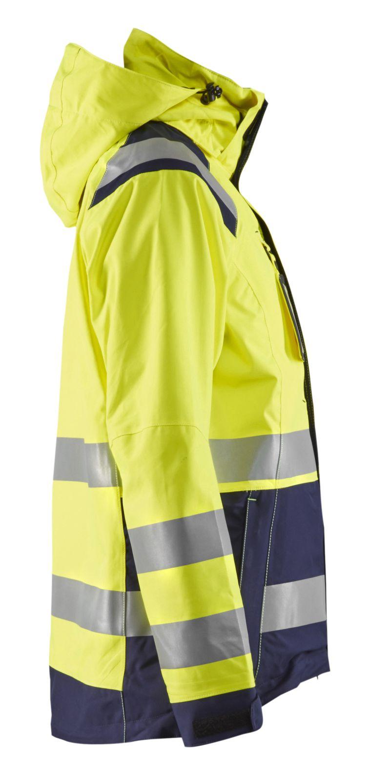 Blaklader Dames regenjacks 49041987 High Vis geel-marineblauw(3389)