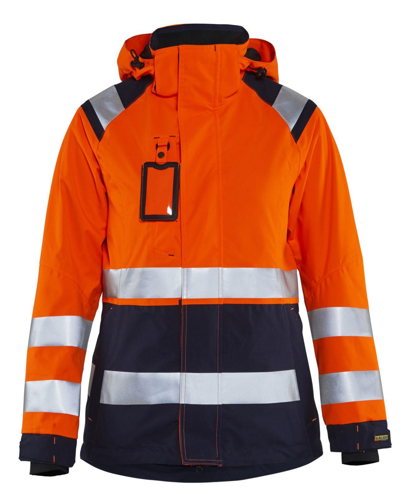 Blaklader Dames regenjacks 49041987 High Vis oranje-marineblauw(5389)