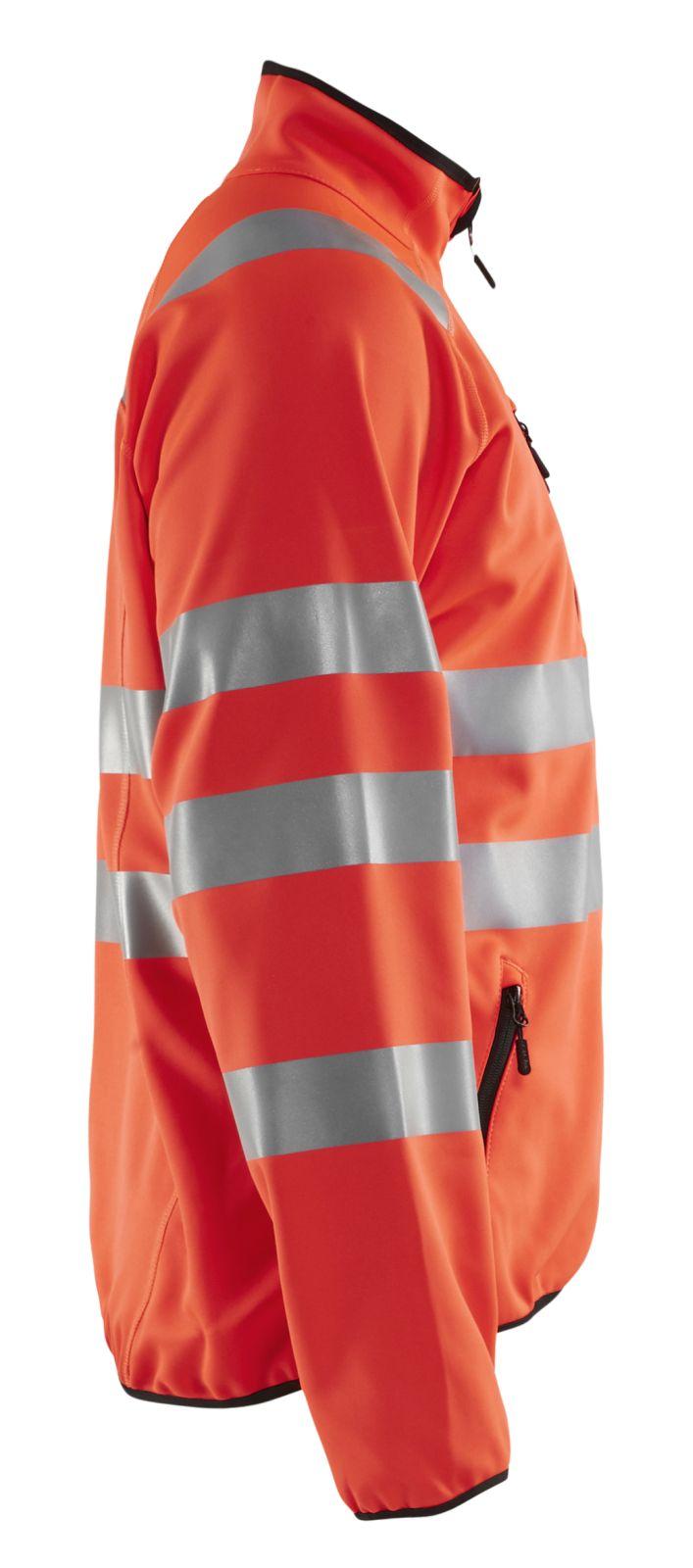 Blaklader Softshell jacks 49062512 High Vis fluor rood(5500)