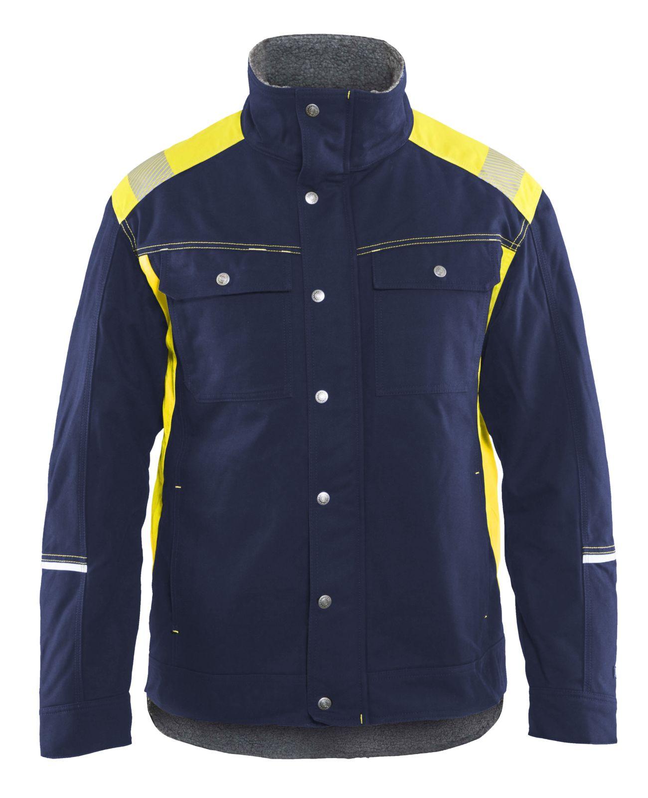 Blaklader Jassen 49151370 marineblauw-geel(8833)