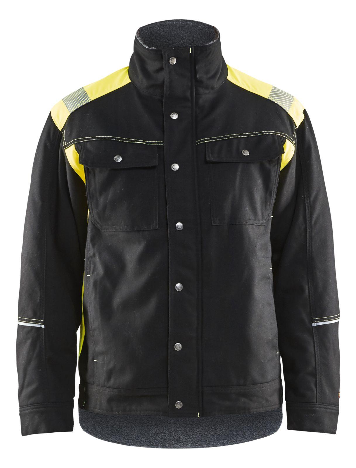 Blaklader Winterjacks 49151370 zwart-geel(9933)