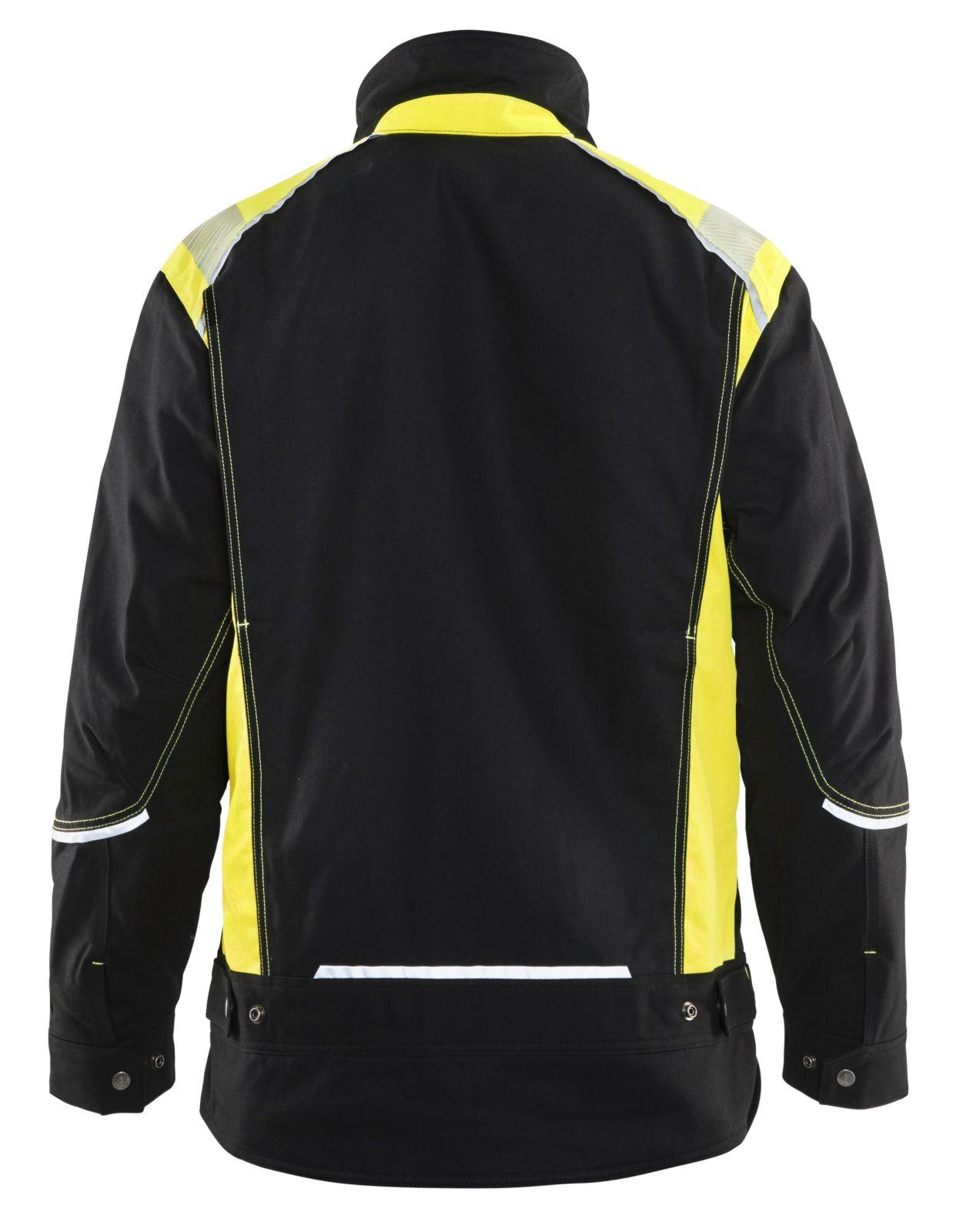 Blaklader Jassen 49151370 zwart-geel(9933)