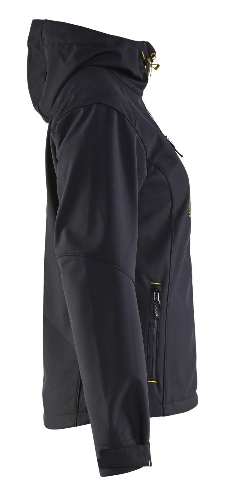 Blaklader Dames softshell jacks 49192517 zwart-fluo geel(9933)