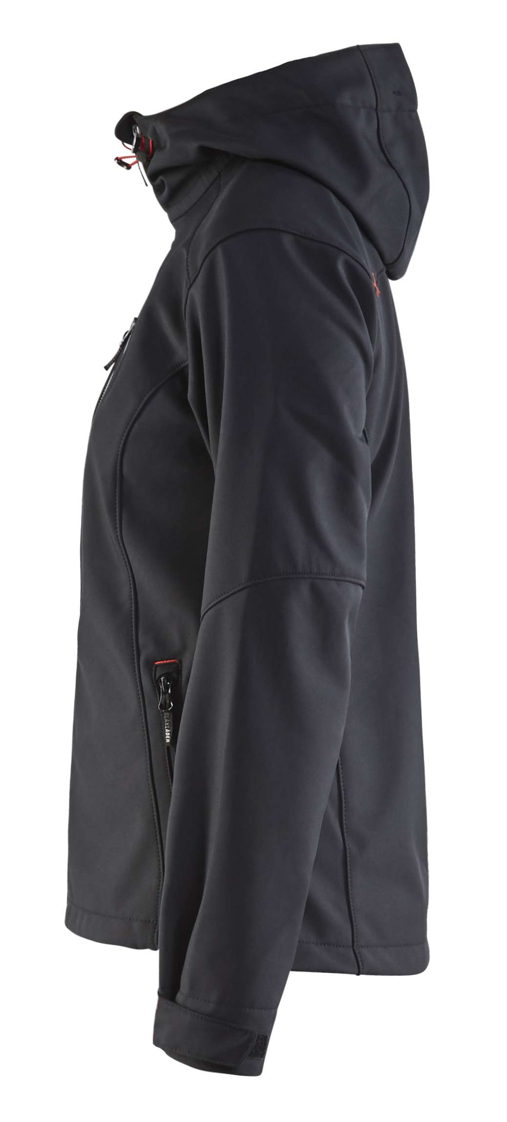 Blaklader Dames softshell jacks 49192517 zwart-rood(9956)