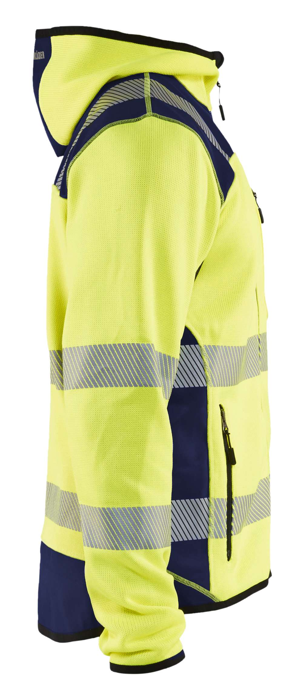 Blaklader Hooded vesten 49232120 High Vis fluo geel-marineblauw(3389)