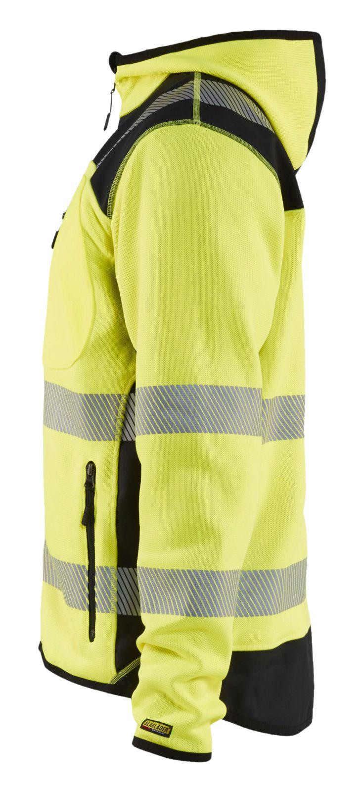 Blaklader Hooded vesten 49232120 High Vis fluo geel-zwart(3399)