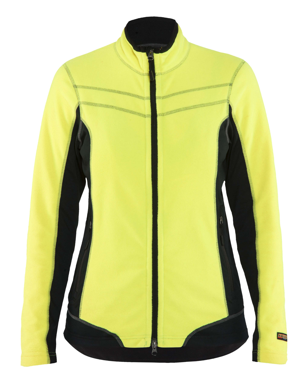 Blaklader Dames fleece vesten 49241010 geel-zwart(3399)