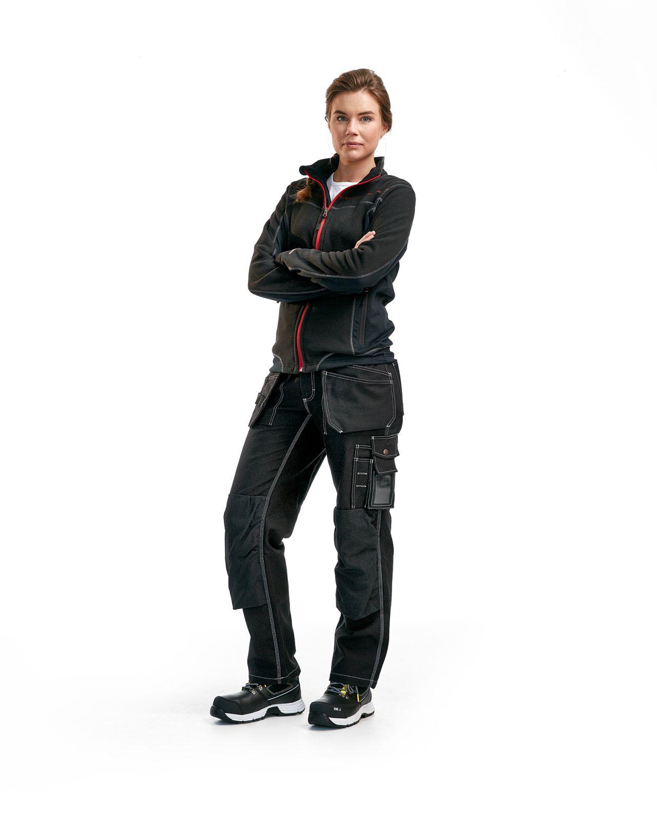 Blaklader Dames fleece vesten 49241010 zwart-rood(9956)