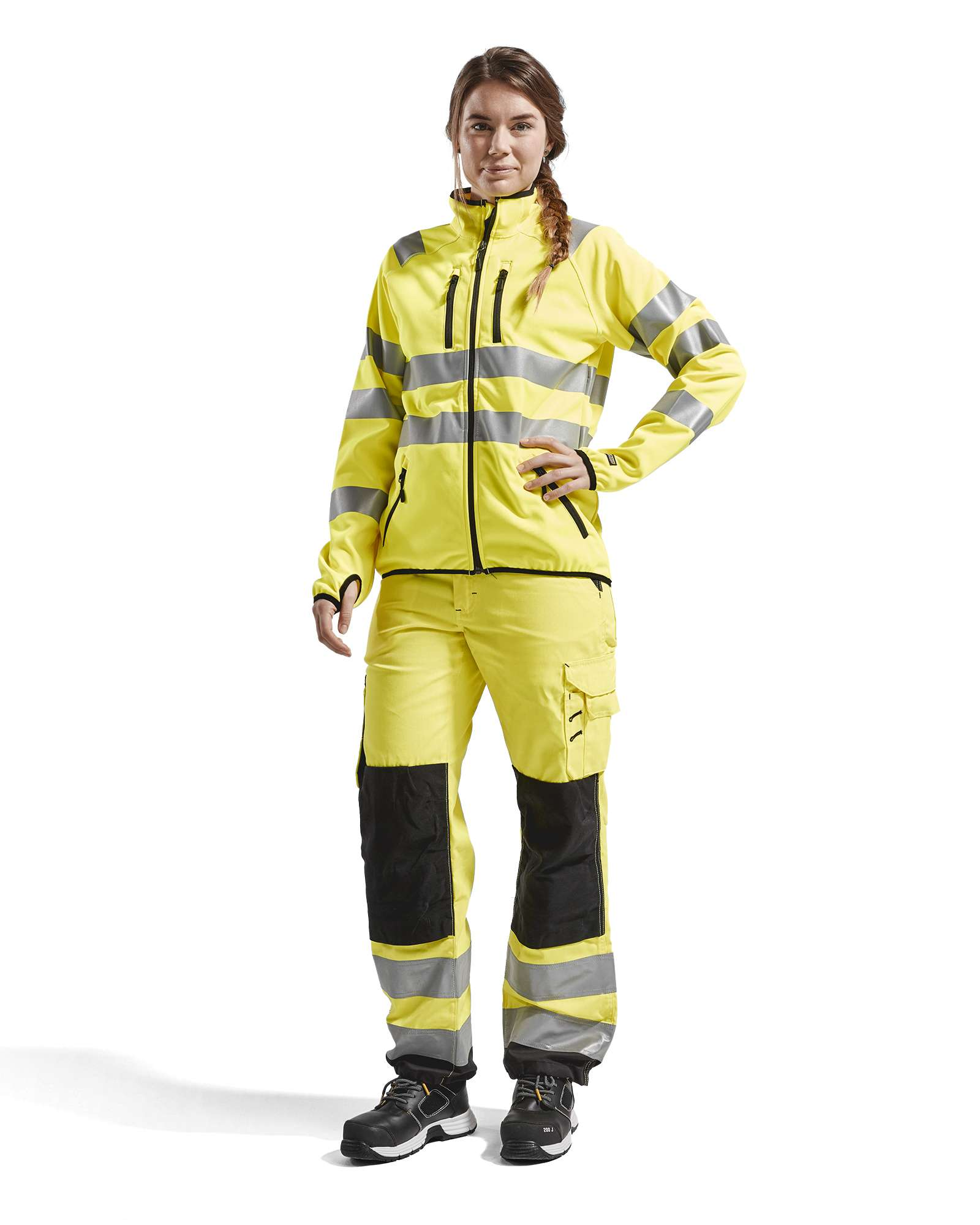 Blaklader Dames softshell jacks 49262512 High Vis geel(3300)