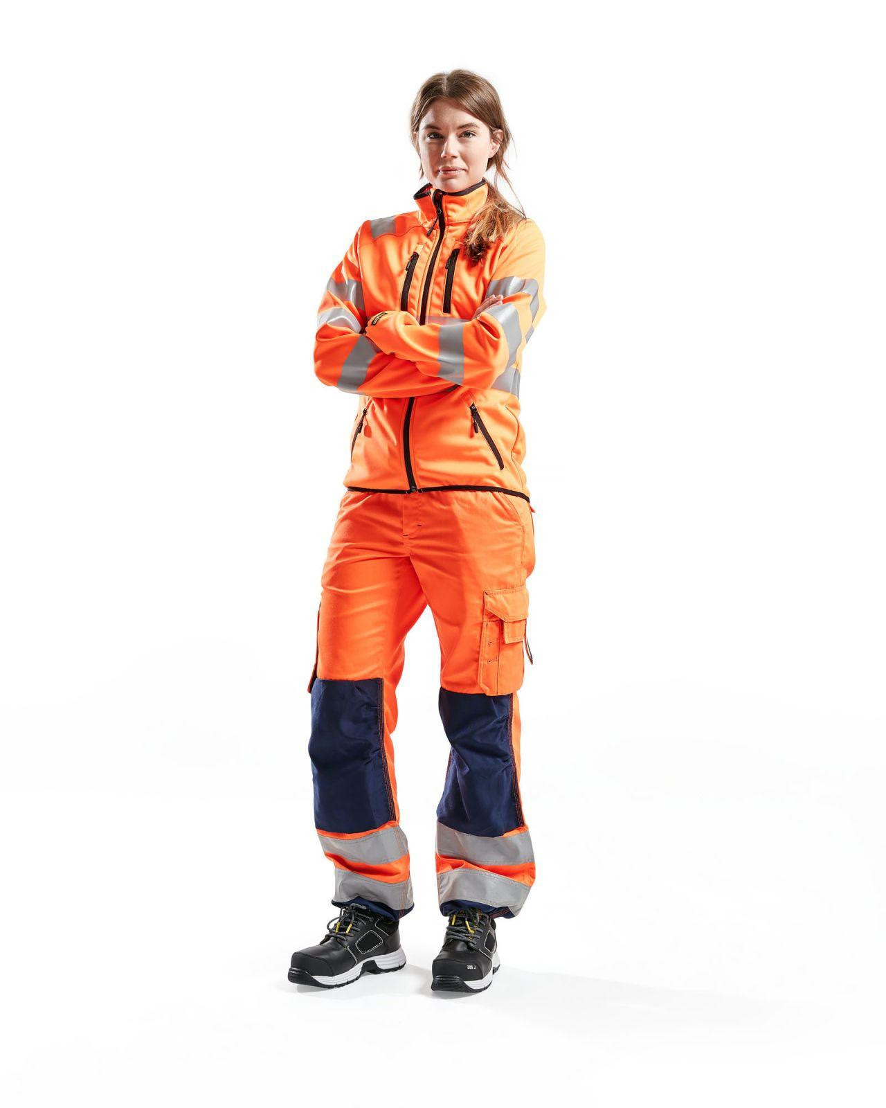 Blaklader Dames softshell jacks 49262512 High Vis oranje(5300)