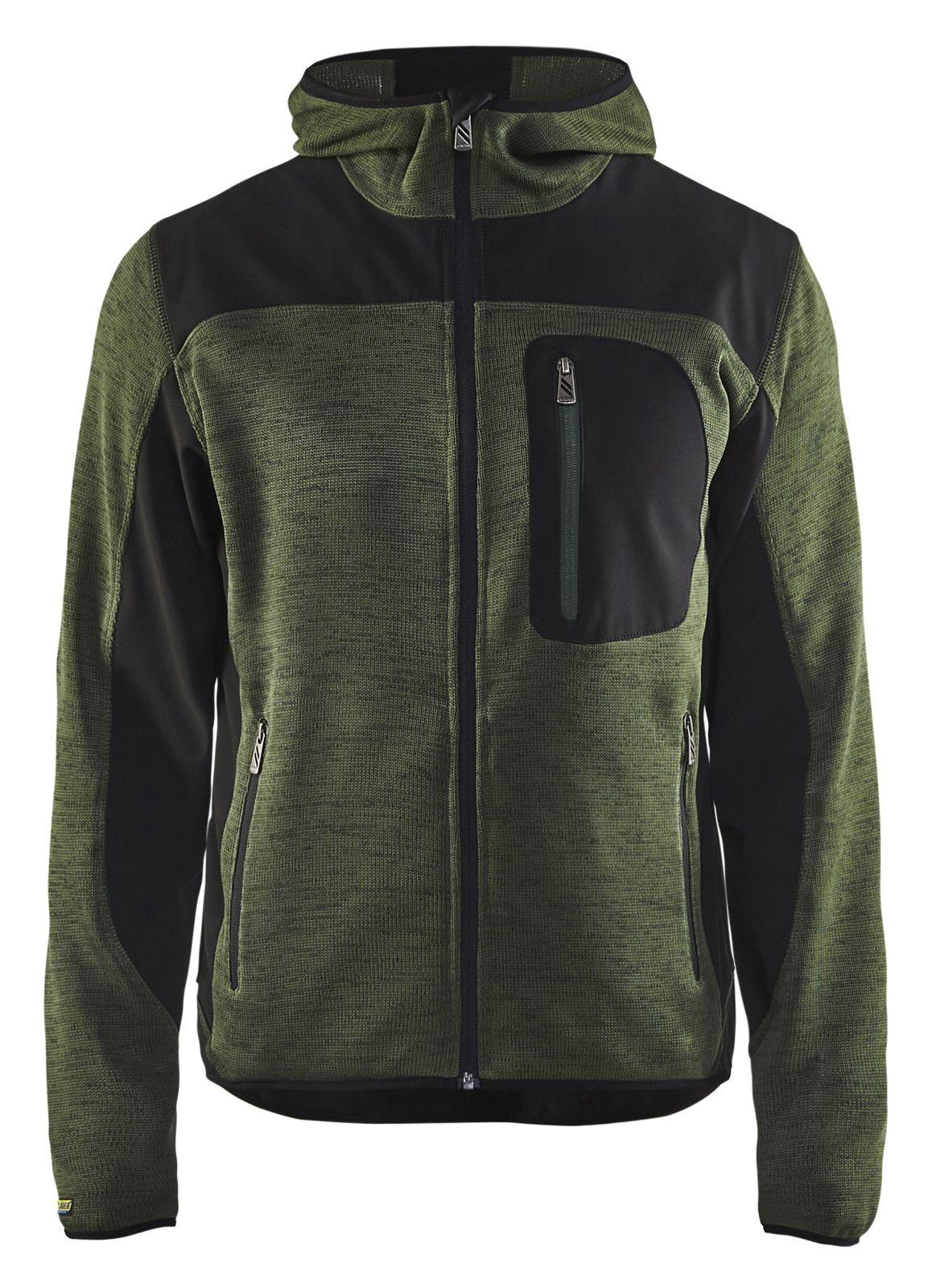 Blaklader Gebreide vesten 49302117 army groen-zwart(4699)