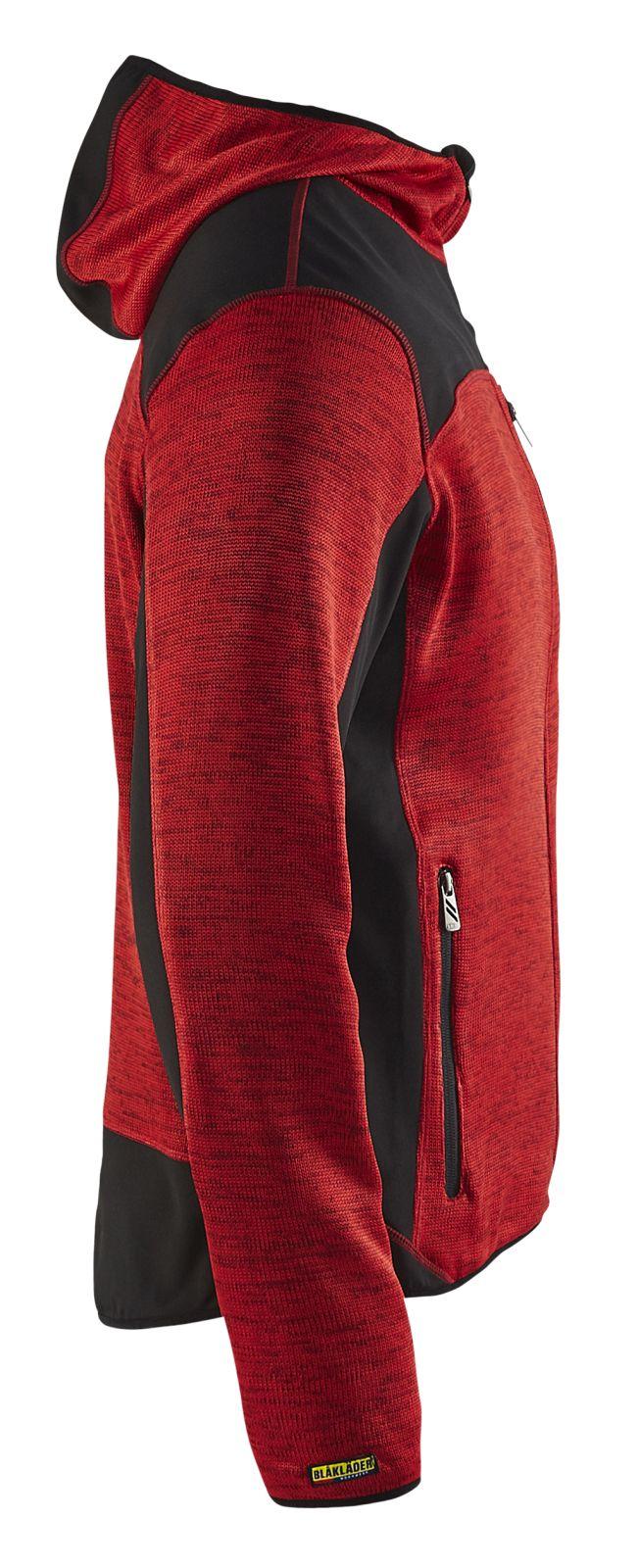 Blaklader Gebreide vesten 49302117 rood-zwart(5699)