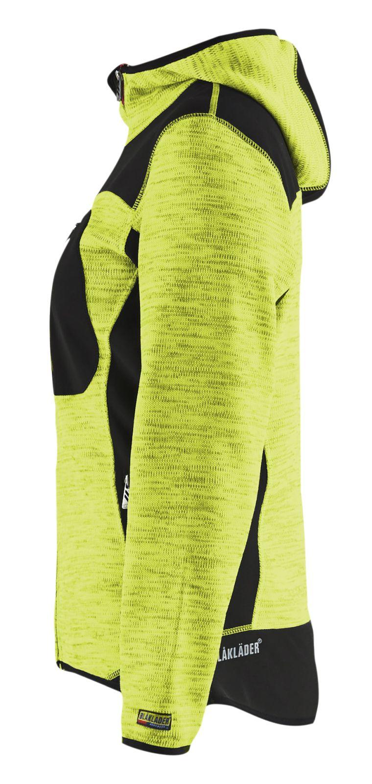 Blaklader Gebreide damesvesten 49312117 fluo geel-zwart(3399)