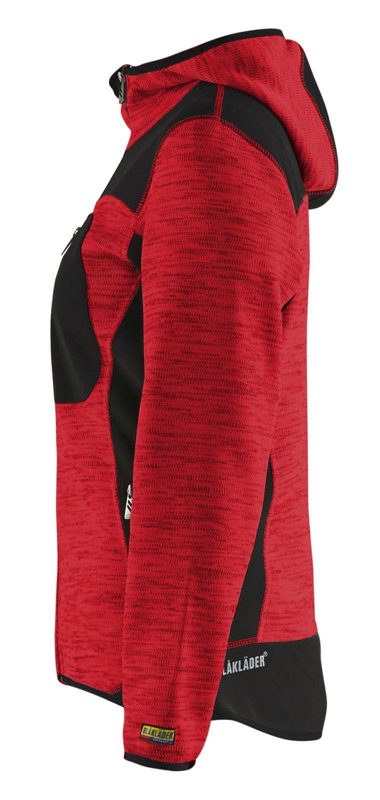 Blaklader Gebreide damesvesten 49312117 rood-zwart(5699)