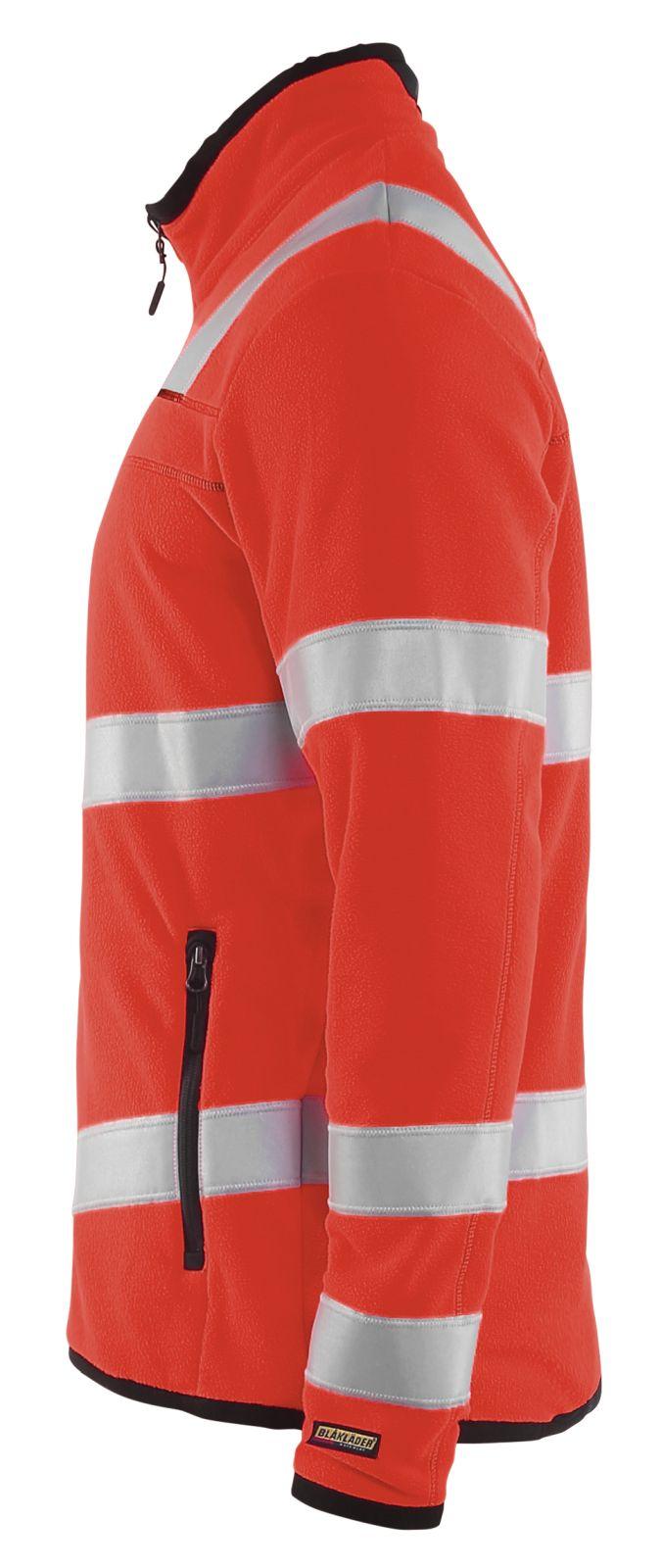 Blaklader Fleece vesten 49411010 High Vis fluor rood(5500)