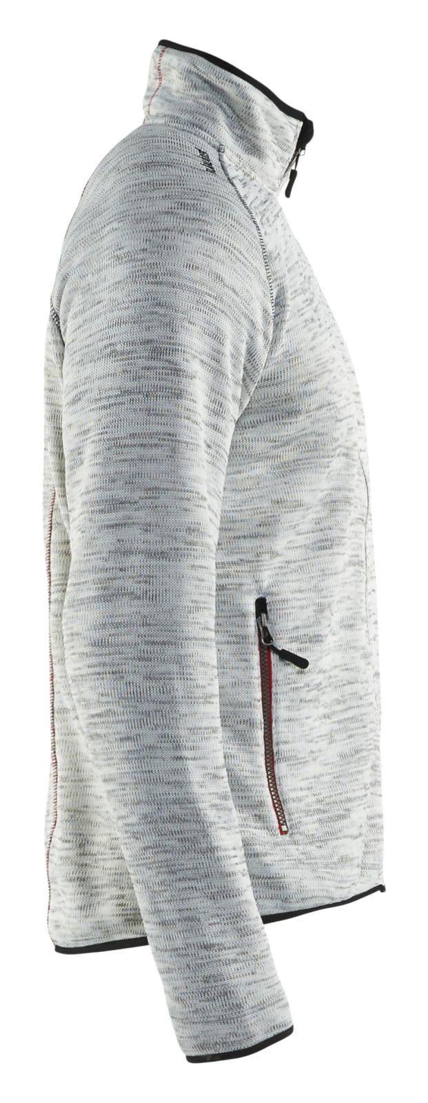 Blaklader Gebreide vesten 49422117 grijs melange-rood(9056)
