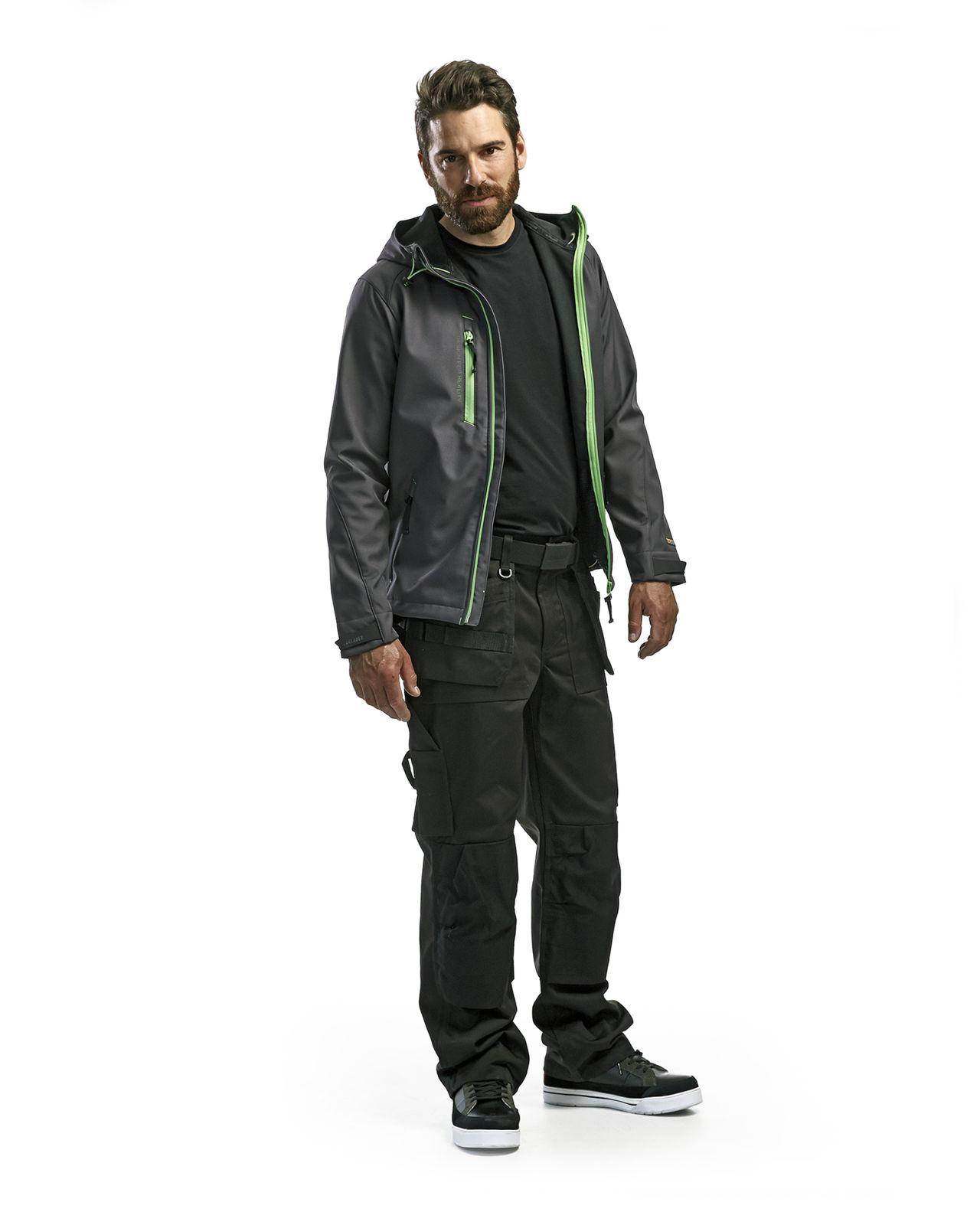 Blaklader Softshell jacks 49492517 donkergrijs-groen(9744)