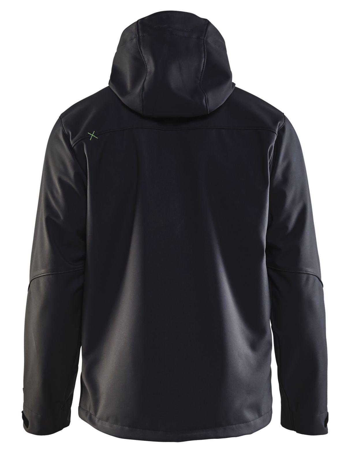 Blaklader Softshell jacks 49492517 zwart-groen(9942)