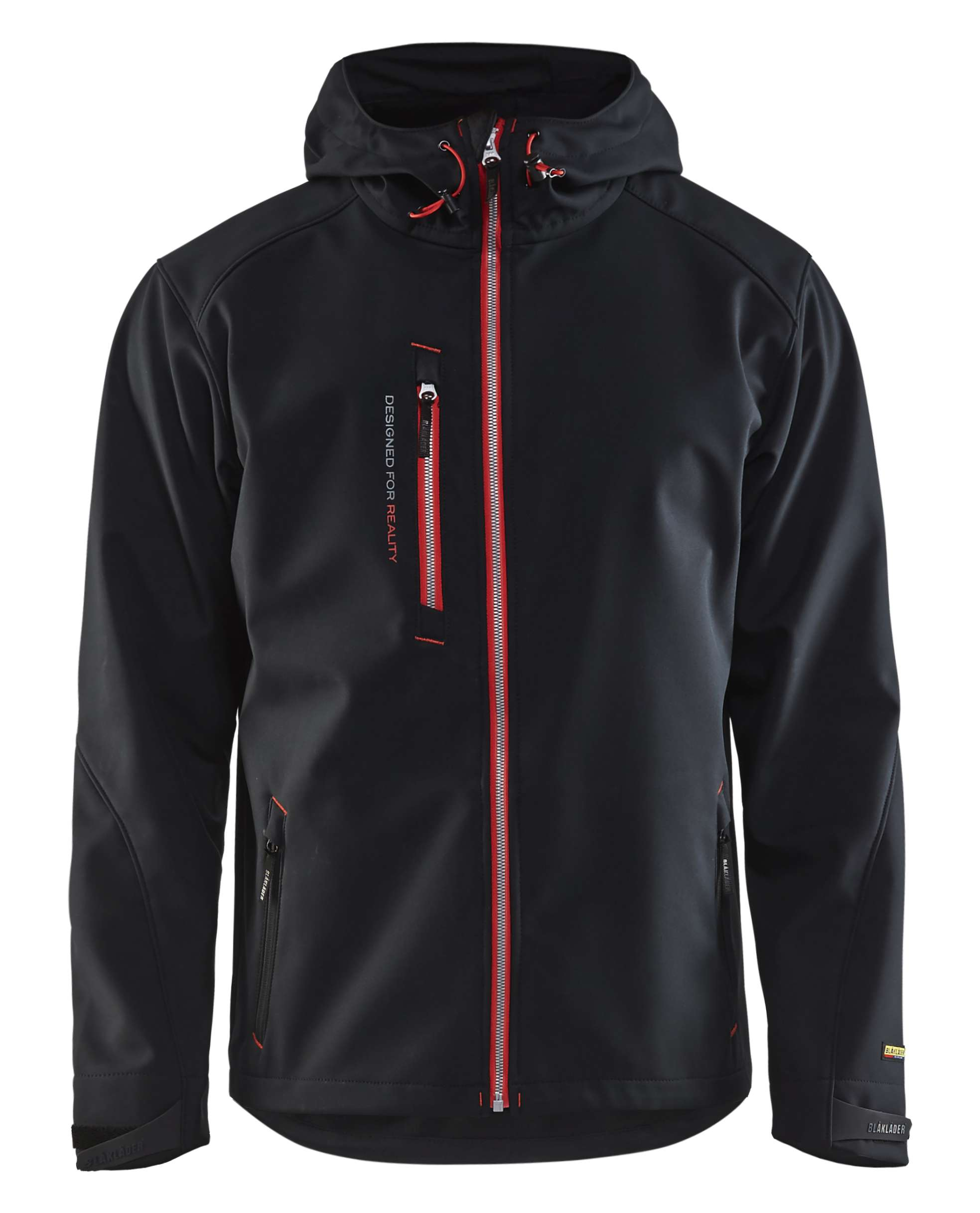 Blaklader Softshell jacks 49492517 zwart-rood(9956)