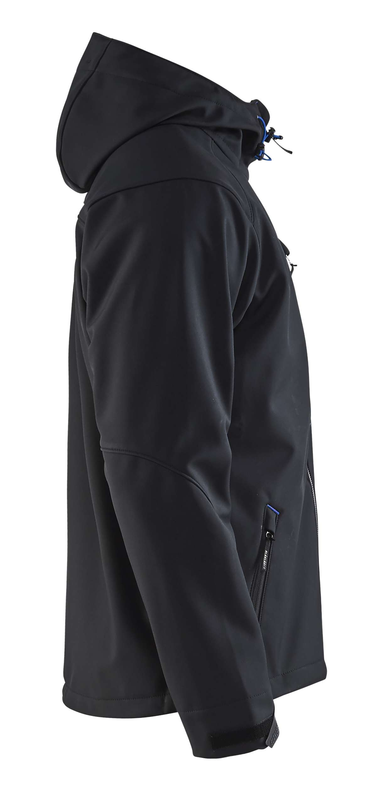 Blaklader Softshell jacks 49492517 zwart-korenblauw(9985)