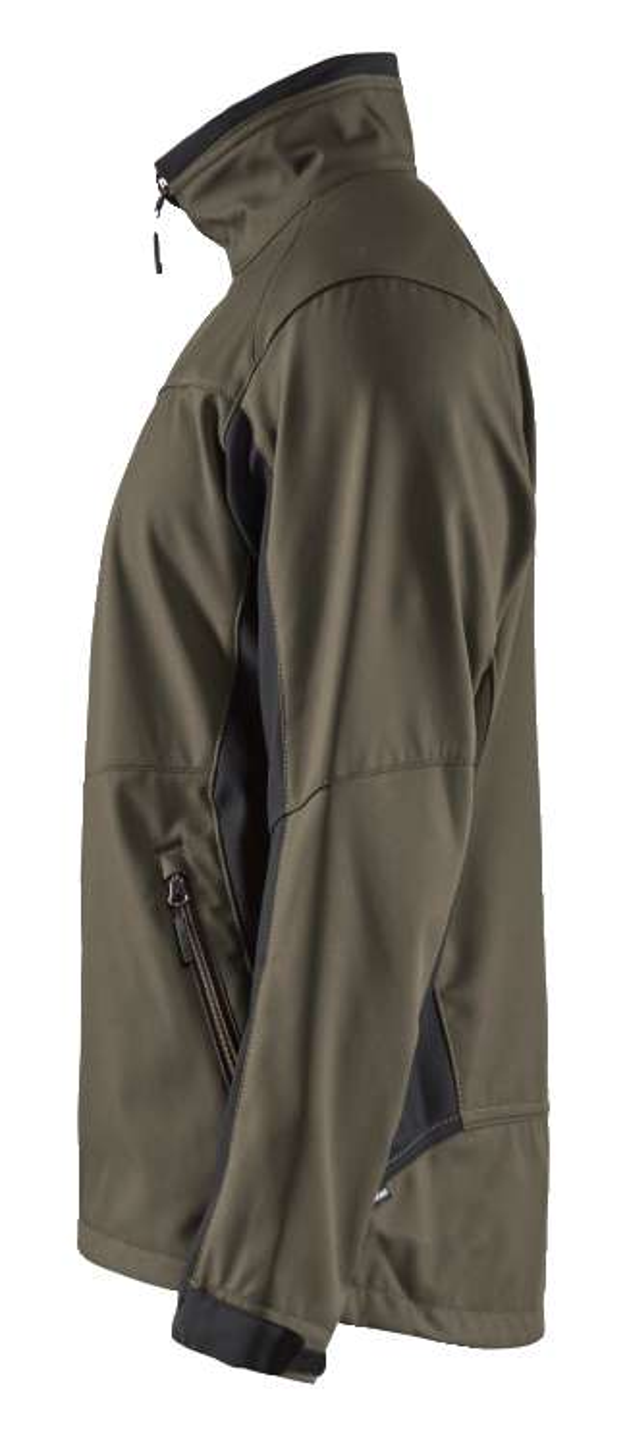 Blaklader Softshell jacks 49502516 groen-zwart(4599)