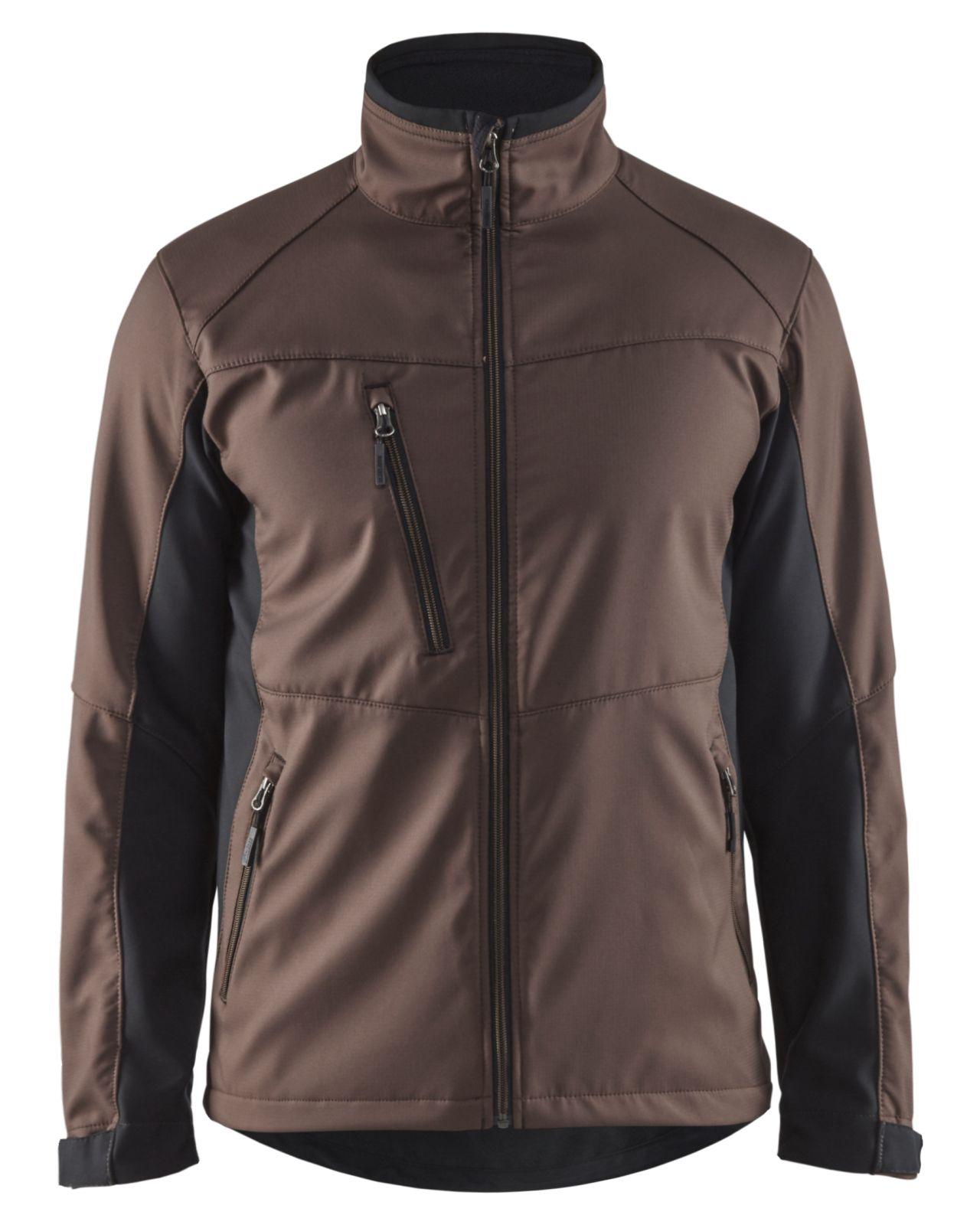 Blaklader Softshell jacks 49502516 bruin-zwart(7899)