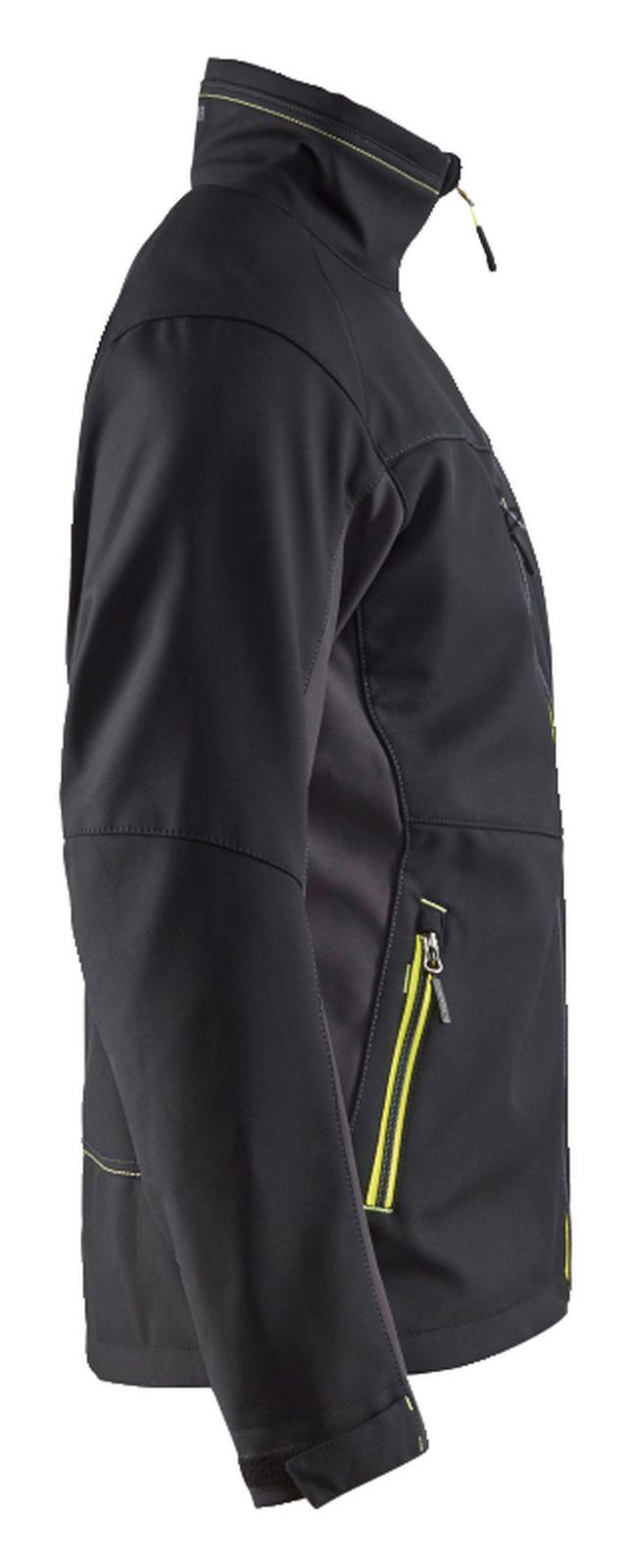 Blaklader Softshell jacks 49502516 zwart-geel(9933)