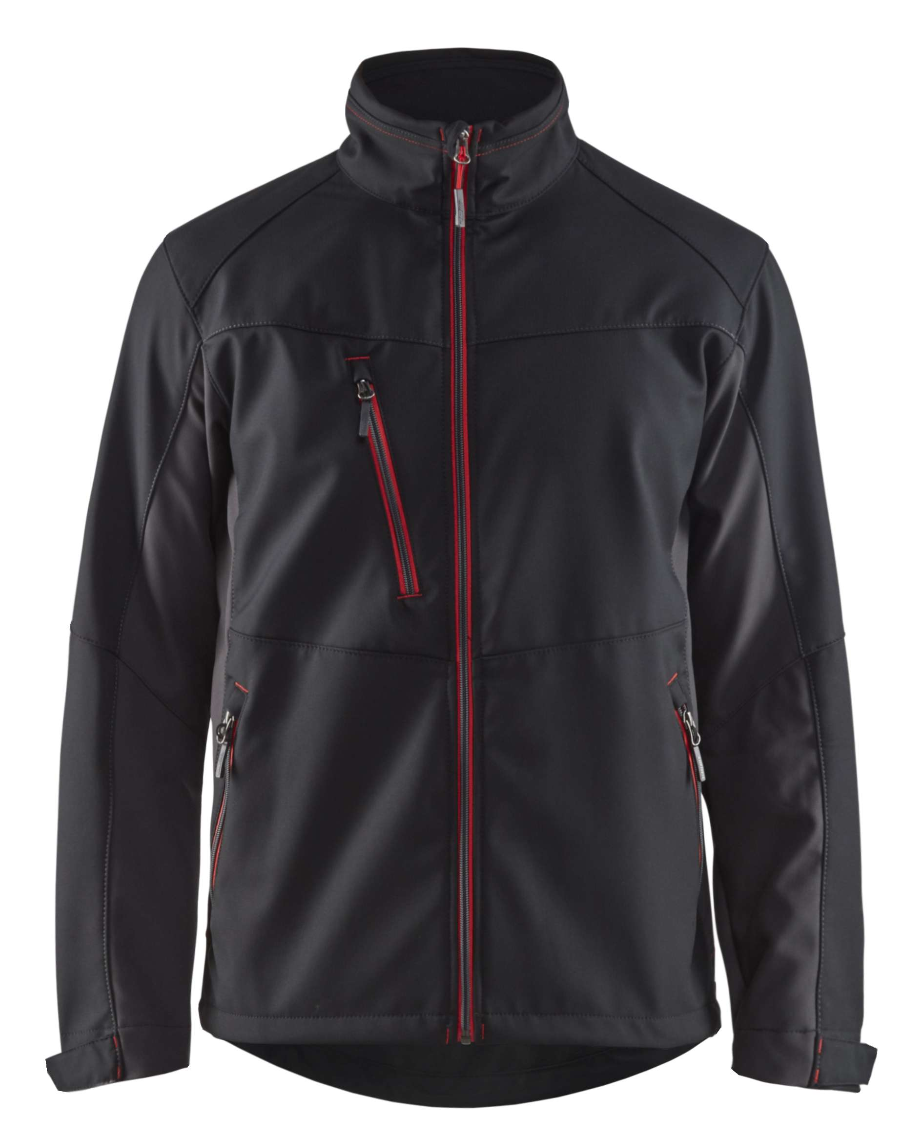 Blaklader Softshell jacks 49502516 zwart-rood(9956)