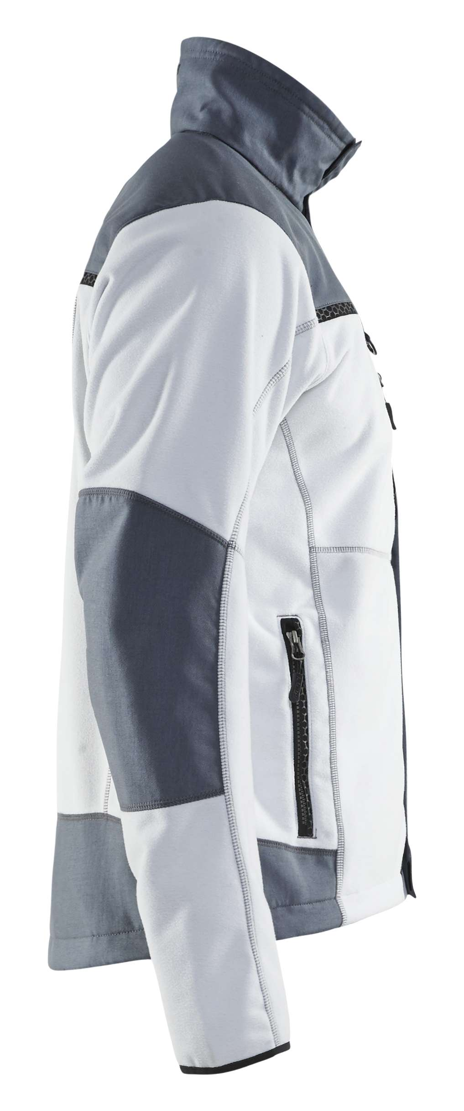 Blaklader Fleece jassen 49552524 wit-grijs(1094)