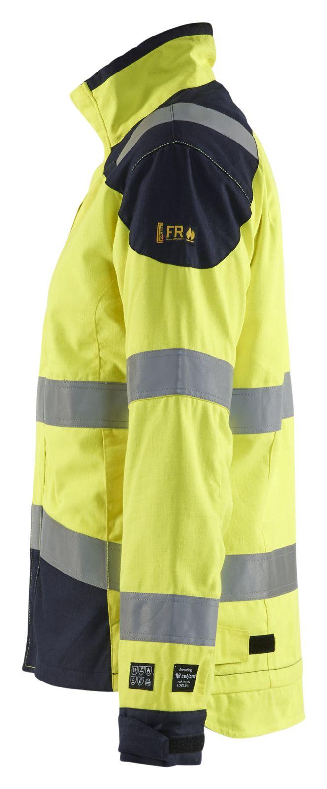 Blaklader Dames werkjacks 49691512 Multinorm fluo geel-marineblauw(3389)