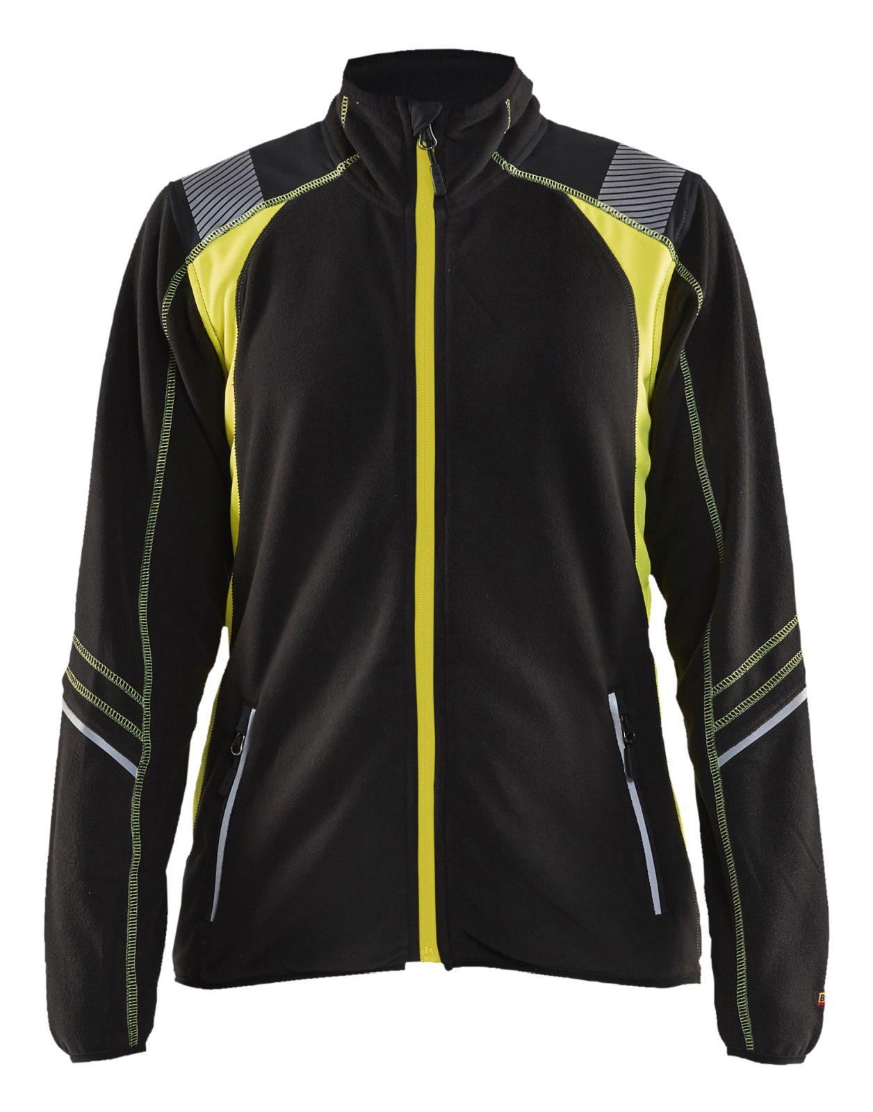 Blaklader Dames fleece vesten 49731010 Reflectieband zwart-fluo geel(9933)