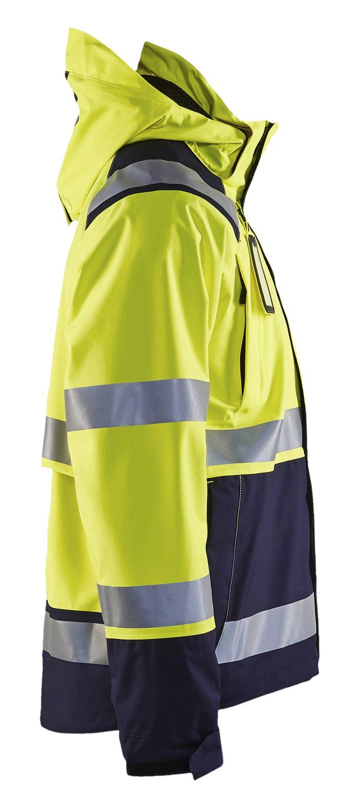 Blaklader Regenjacks 49871987 High Vis geel-marineblauw(3389)