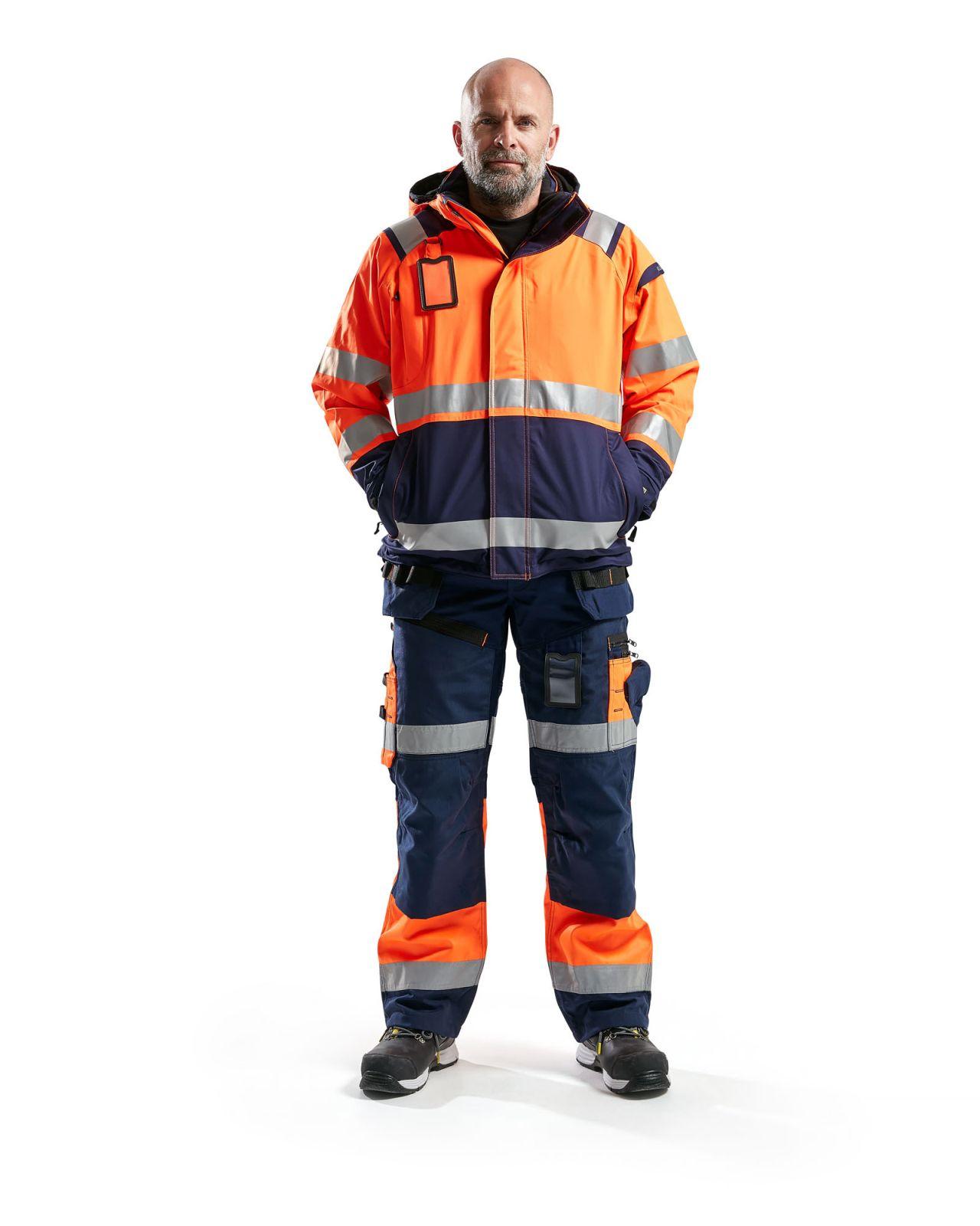 Blaklader Regenjacks 49871987 High Vis oranje-marineblauw(5389)