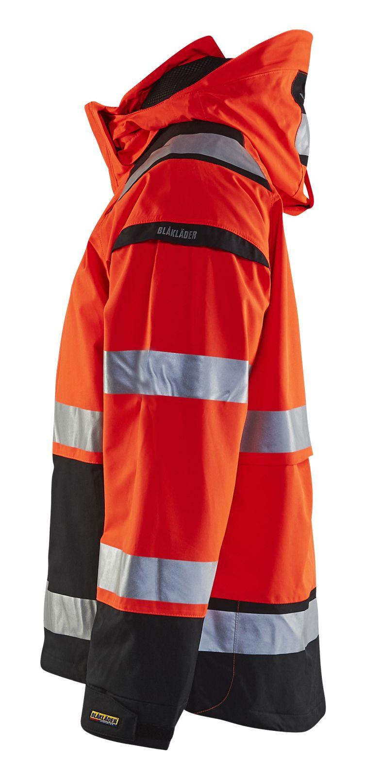 Blaklader Regenjacks 49871987 High Vis fluo rood-zwart(5599)