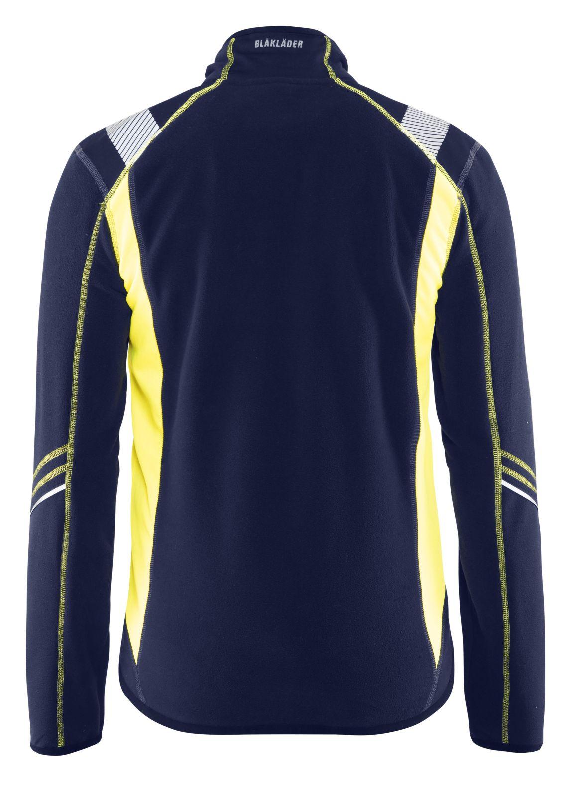 Blaklader Fleece vesten 49931010 marineblauw-geel(8933)