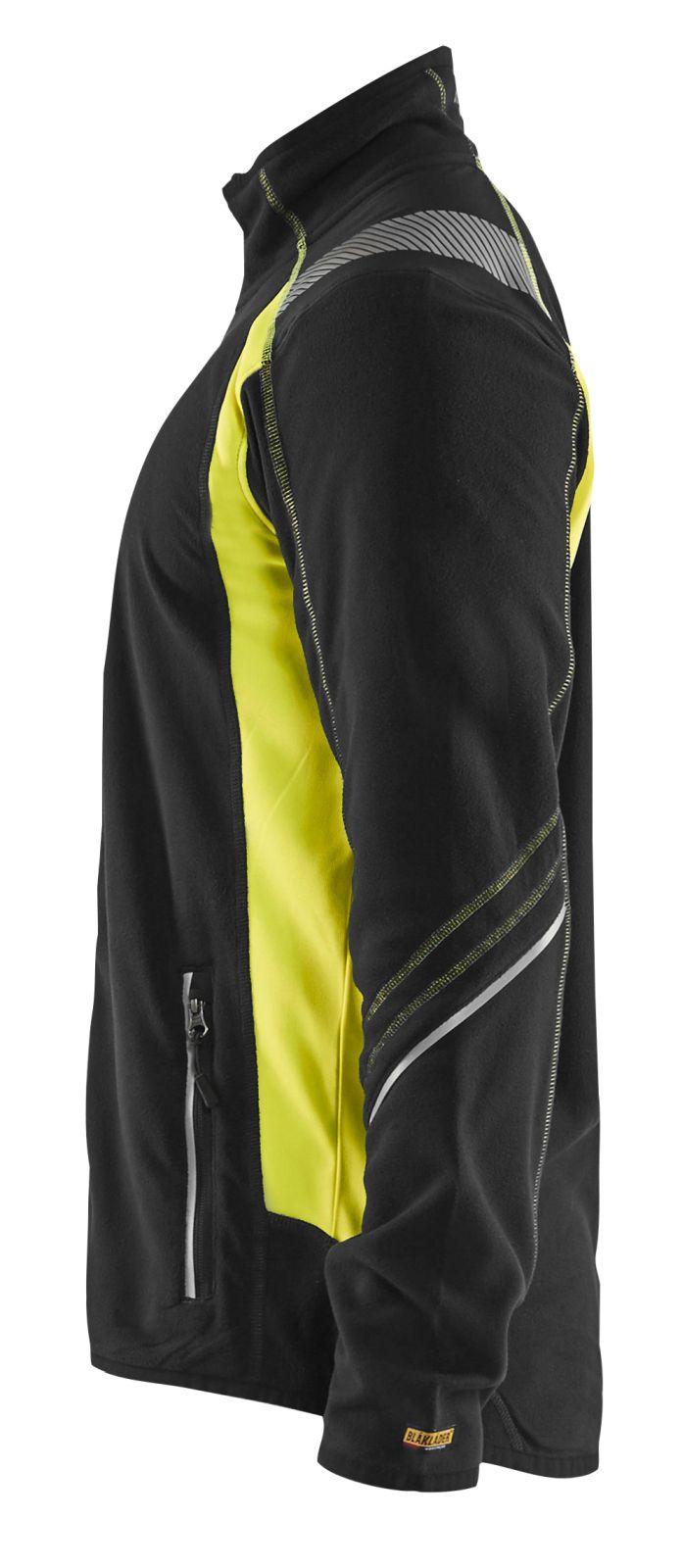 Blaklader Fleece vesten 49931010 zwart-geel(9933)