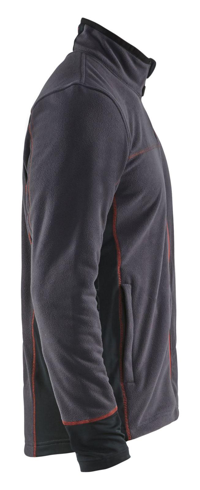 Blaklader Fleece vesten 49951010 donkergrijs-rood(9756)