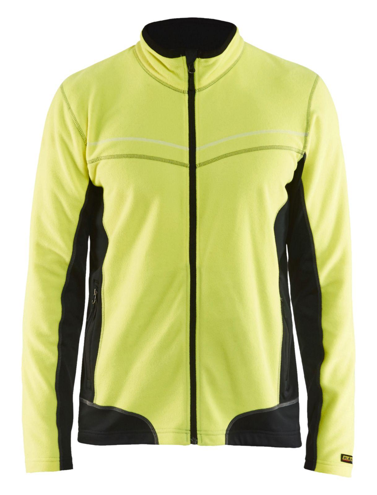 Blaklader Fleece vesten 49971010 geel-zwart(3399)